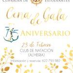 Cartel cena de gala 75 aniversario