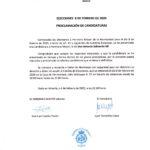 Proclamación de candidaturas